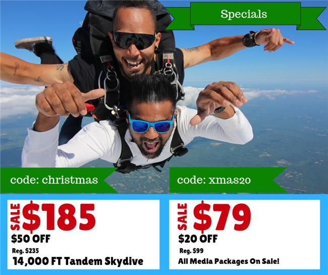 Skydiving Christmas Specials