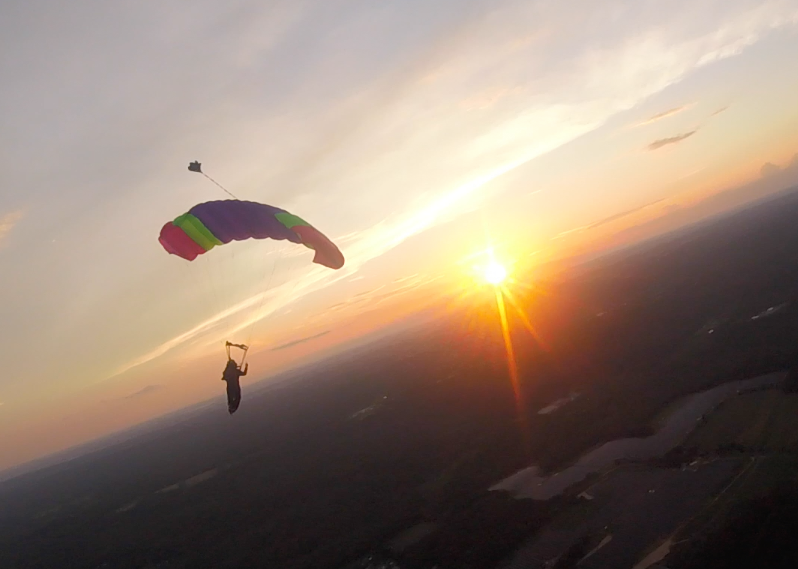 Flying a parachute while over CT