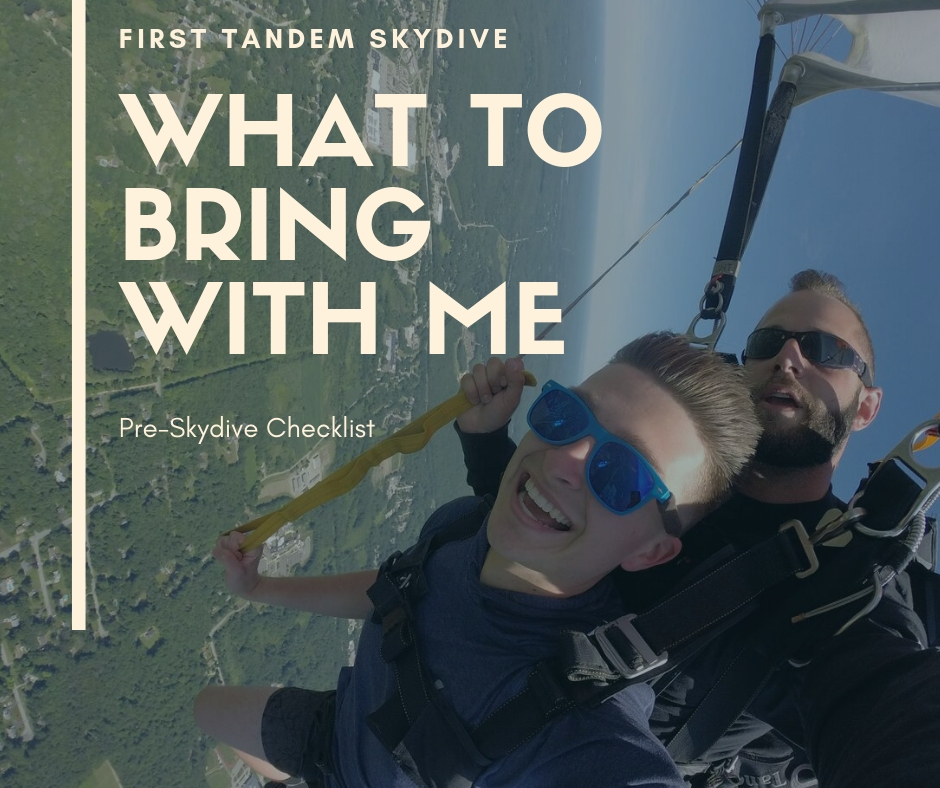 What to bring with you for a tandem skydive