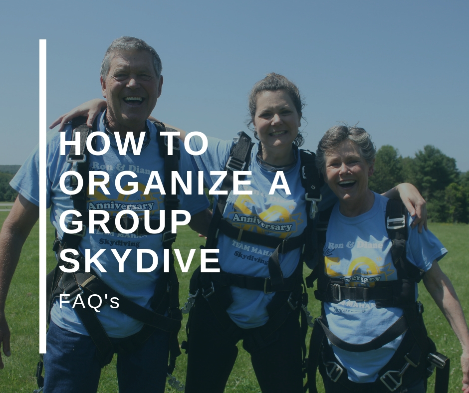 Organize a group skydive