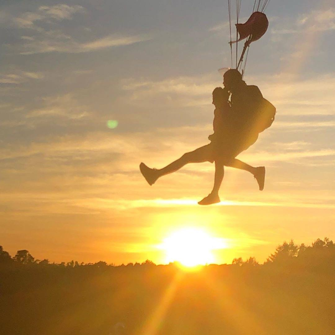 Sunset Tandem Skydive in CT