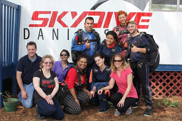 Group skydiving event