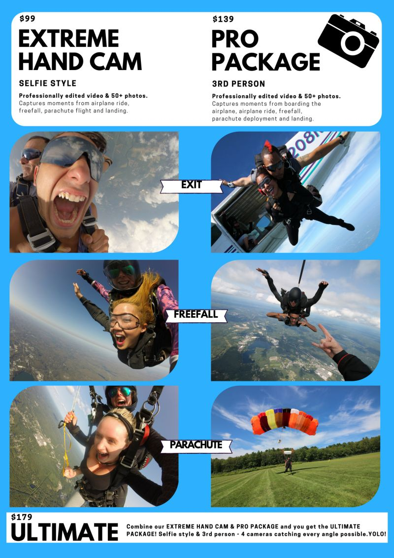 Skydiving in CT - Video and Photo Packages