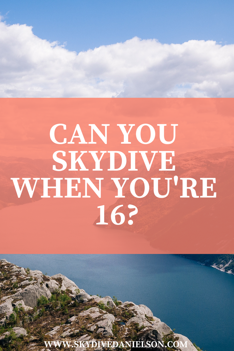 Skydive in CT- Regulations On Skydiving At 16 Years Old