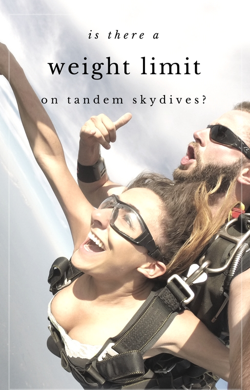 How Your Weight Affects Tandem Skydiving - Why The Weight